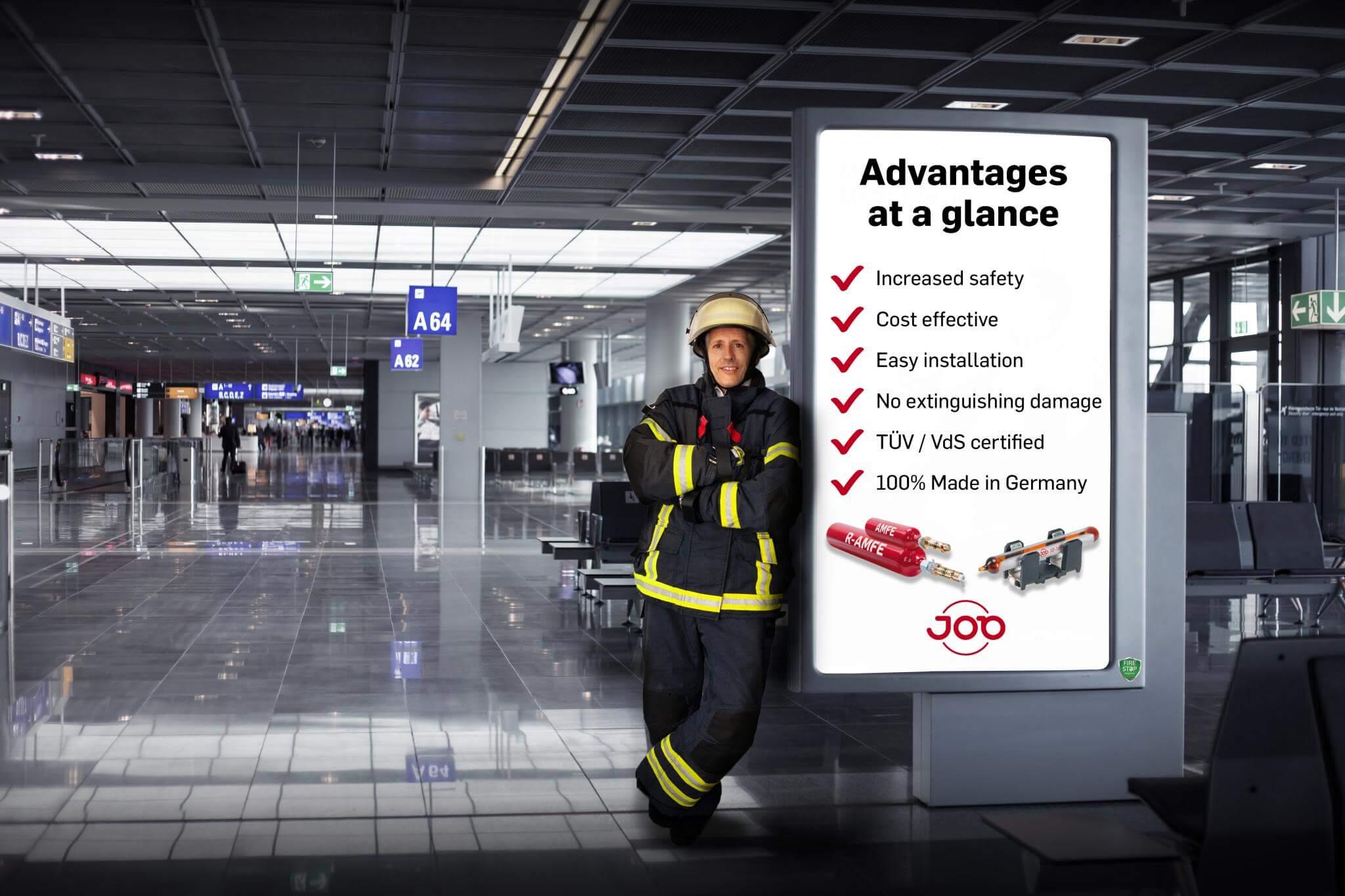 Firefighter at infoscreen